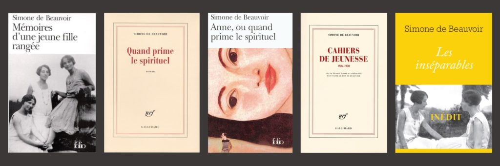 écrits de Simone de Beauvoir avec Zaza, Elisabeth Lacoin